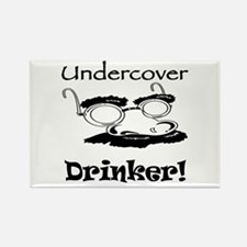 Undercover Drinker Rectangle Magnet