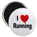I Love Running Magnet
