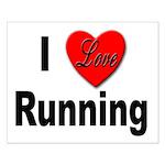 I Love Running Small Poster