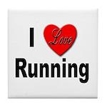 I Love Running Tile Coaster