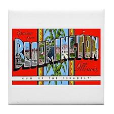 Bloomington Illinois Greetings Tile Coaster