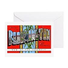 Bloomington Illinois Greetings Greeting Card