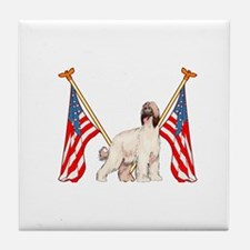 All American Afghan Hound Tile Coaster