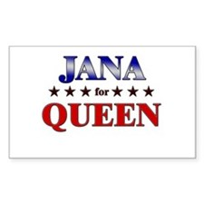 JANA for queen Rectangle Decal
