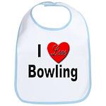 I Love Bowling Bib