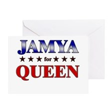 JAMYA for queen Greeting Card