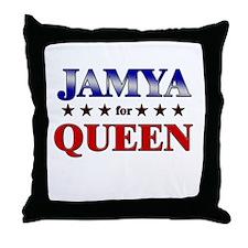 JAMYA for queen Throw Pillow