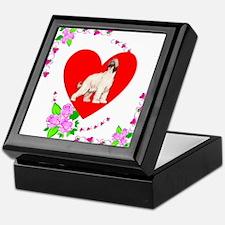Valentine's Day Afghan Hound Heart Keepsake Box