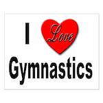 I Love Gymnastics Small Poster
