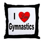 I Love Gymnastics Throw Pillow