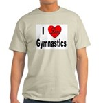 I Love Gymnastics Ash Grey T-Shirt
