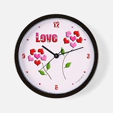 Flower Heart Love Gift Wall Clock
