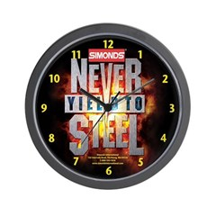 Never Yield To SteelWall Clock