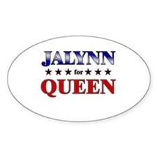 JALYNN for queen Oval Decal