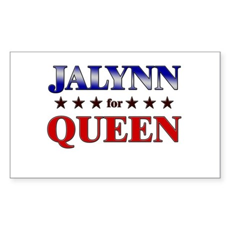 JALYNN for queen Rectangle Sticker