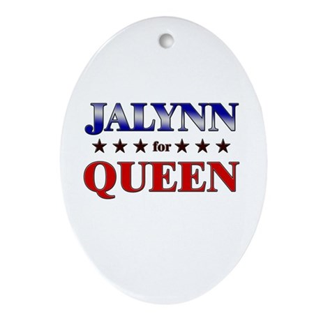 JALYNN for queen Oval Ornament