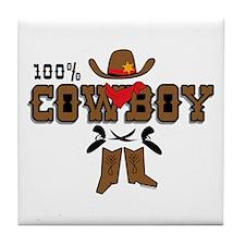 100% Cowboy Tile Coaster