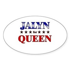 JALYN for queen Oval Decal
