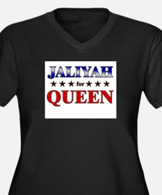 JALIYAH for queen Women's Plus Size V-Neck Dark T-