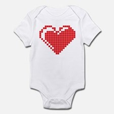 Pixel Heart Infant Bodysuit