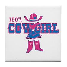 100% Cowgirl Tile Coaster