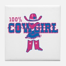 100% Cowgirl Tile Coaster