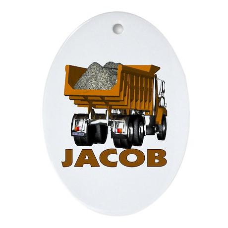 Jacob Dumptruck Oval Ornament