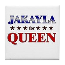 JAKAYLA for queen Tile Coaster