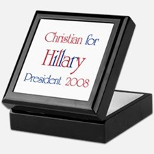 Christian for Hillary 2008  Keepsake Box