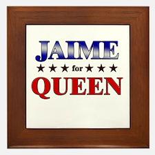 JAIME for queen Framed Tile
