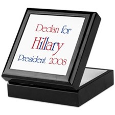 Declan for Hillary 2008  Keepsake Box