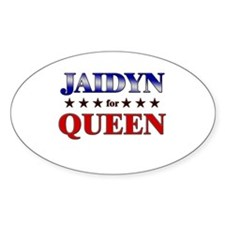 JAIDYN for queen Oval Decal