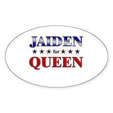 JAIDEN for queen Oval Decal