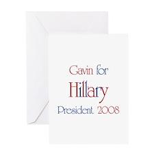 Gavin for Hillary 2008 Greeting Card