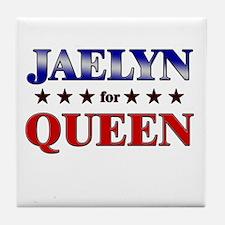 JAELYN for queen Tile Coaster