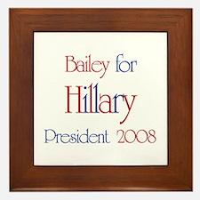 Bailey for Hillary 2008 Framed Tile