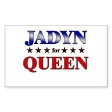 JADYN for queen Rectangle Decal