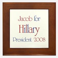 Jacob for Hillary 2008  Framed Tile