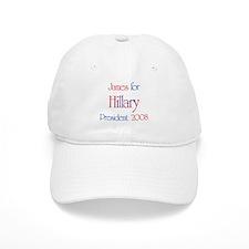James for Hillary 2008 Baseball Cap