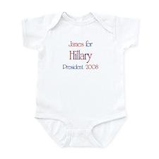 James for Hillary 2008 Infant Bodysuit