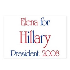 Elena for Hillary 2008 Postcards (Package of 8)