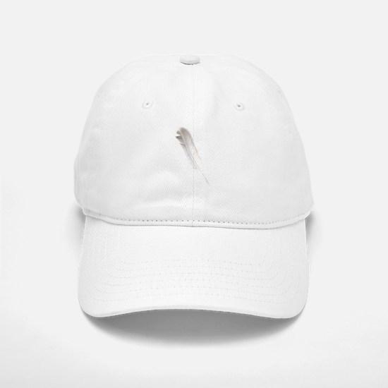 Dove Feather White Baseball Baseball Cap