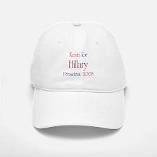 Kevin for Hillary 2008 Baseball Baseball Cap