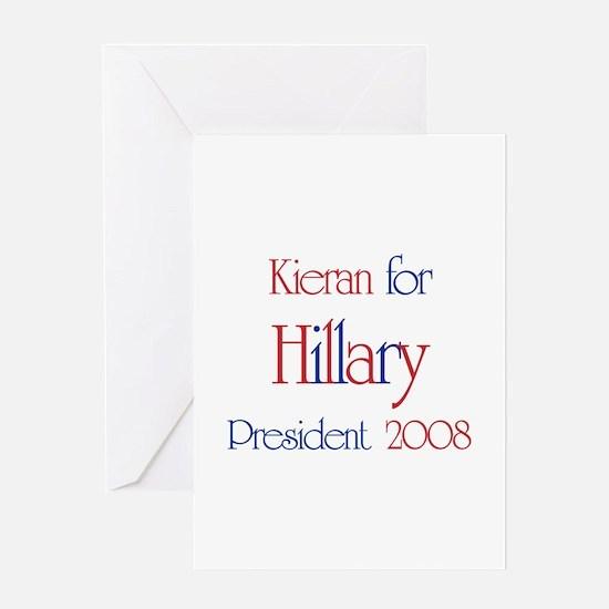 Kieran for Hillary 2008 Greeting Card