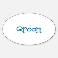 Groom - Blue Dingo Oval Decal