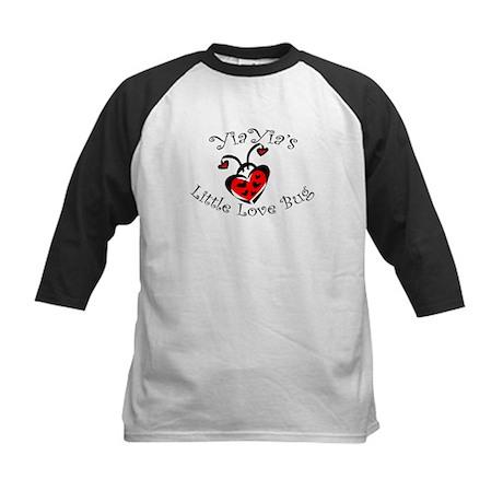 YiaYia's Love Bug Ladybug Kids Baseball Jersey