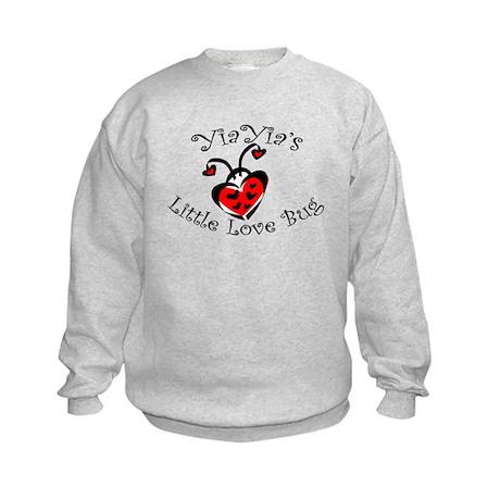 YiaYia's Love Bug Ladybug Kids Sweatshirt