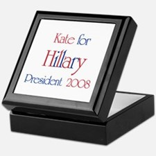 Kate for Hillary 2008 Keepsake Box
