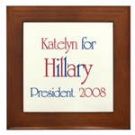 Katelyn for Hillary 2008 Framed Tile
