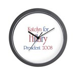 Katelyn for Hillary 2008 Wall Clock